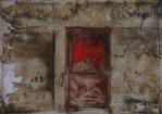 Cardinal Door | 2015 | ORIGINAL SOLD |©LESLIE M. GUZMÁN