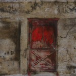 Cardinal Door | 2015 | ORIGINAL SOLD |©LESLIE M. GUZMÁN