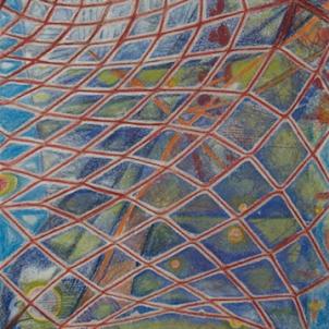 RED TRAP   2011   ORIGINAL AVAILABLE  ©LESLIE M. GUZMÁN